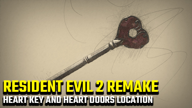 resident evil 2 heart key location heart key doors