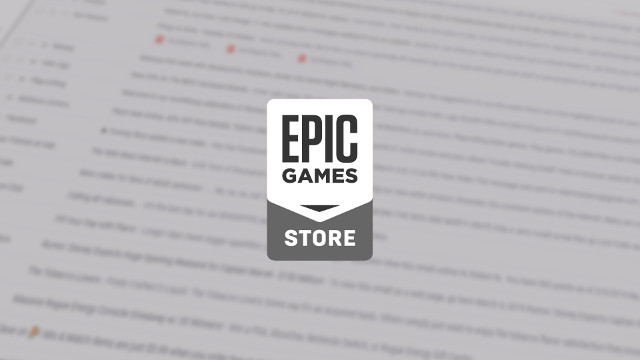 Epic Games Store e-mail
