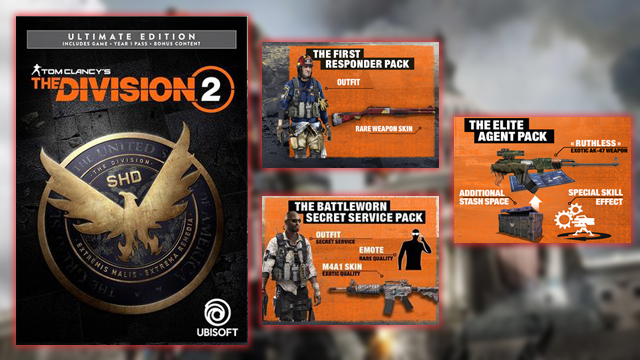 The Division 2 Ultimate Edition Content