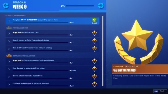 Fortnite Season 8 Week 9 Challenges