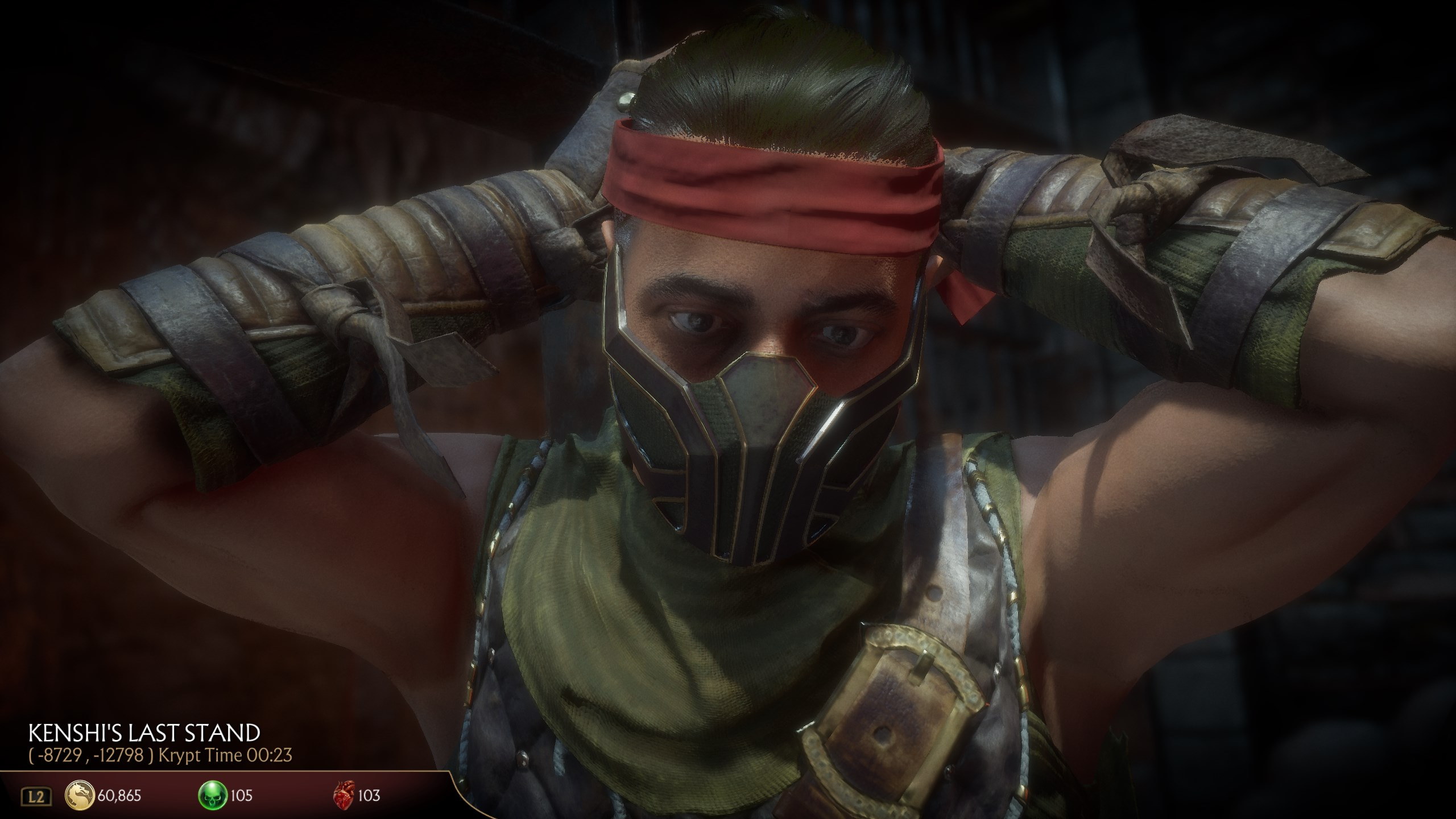 Mortal Kombat 11 Kenshi's Blindfold | See invisible walls