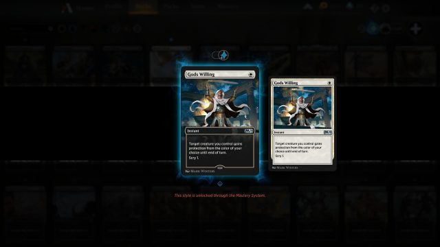 Magic the Gathering Arena Card Styles