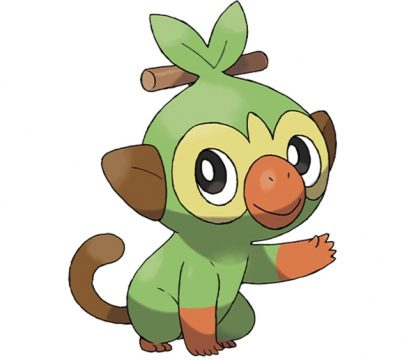 pokemon sword and shield official art grookey