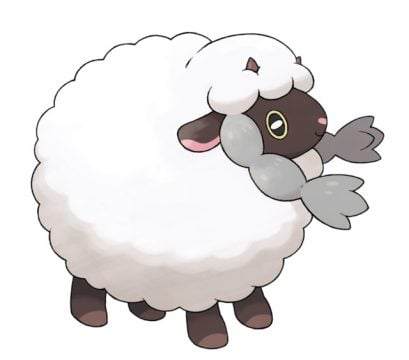 pokemon sword and shield official art wooloo