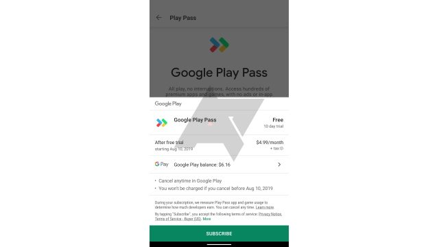 Google Play Pass price