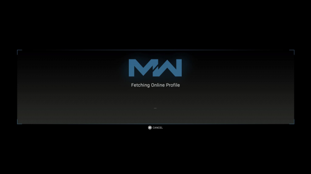 Modern Warfare Connecting to Online Services