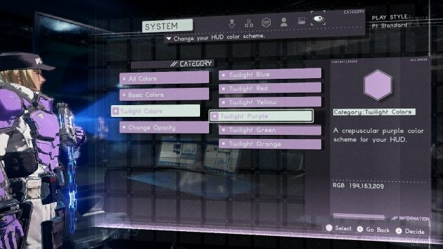 Astral Chain special colors UI HUD