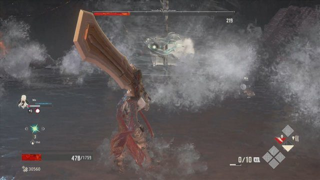 Code Vein Invading Executioner Water Ball Attack