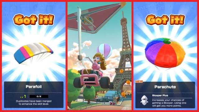 Mario Kart Tour gliders _ All glider special skills