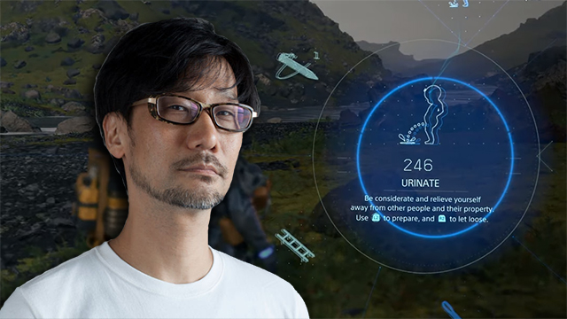 Hideo Kojima and his genius exploration of urinology and all things related to pee