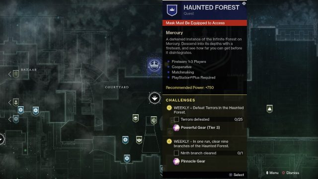 destiny 2 haunted forest location