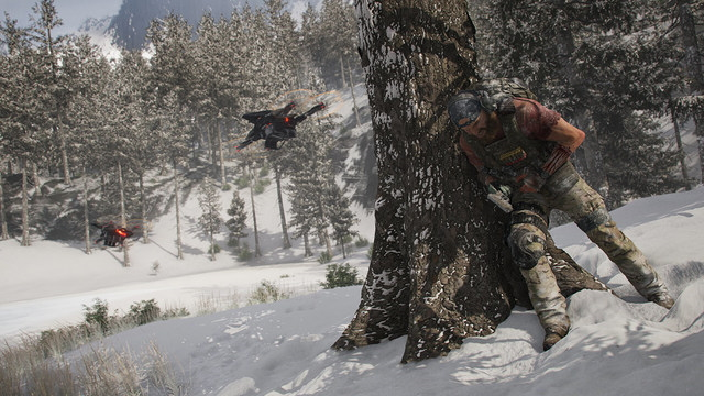 Ghost Recon: Breakpoint switch over-the-shoulder camera