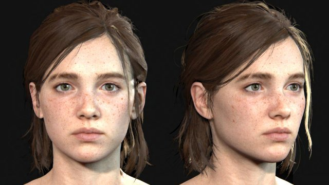 The Last of Us Ellie Cosplay guide face