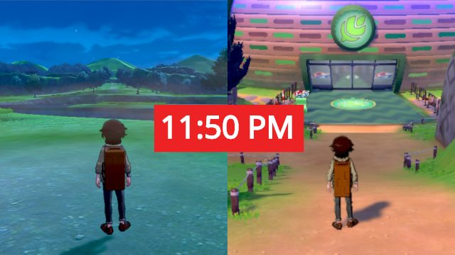 Do Pokemon Sword and Shield have a day_night cycle_