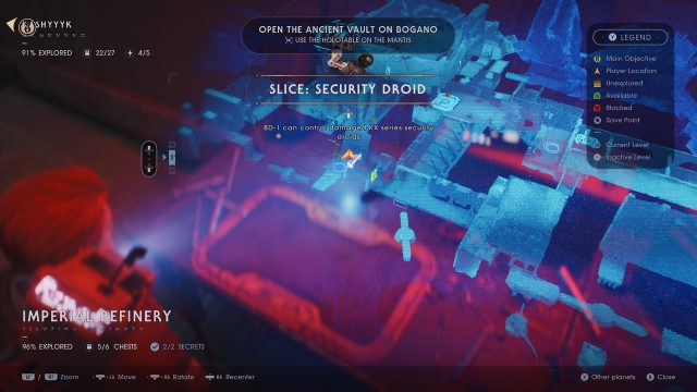 Jedi Fallen Order Hack Security Droid Ability Location Map