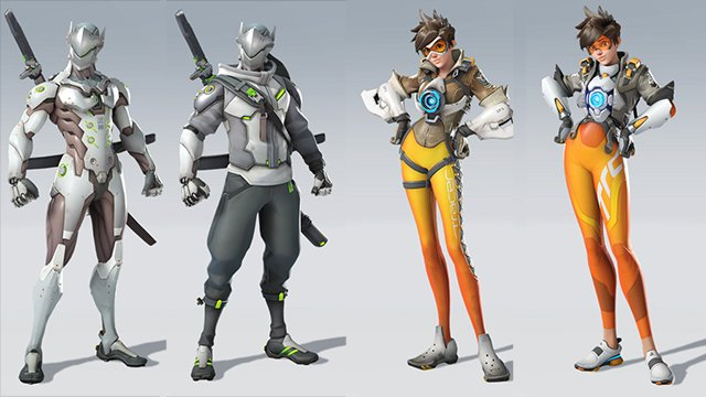 Overwatch 2 Character Comparisons Genji Tracer redesigns