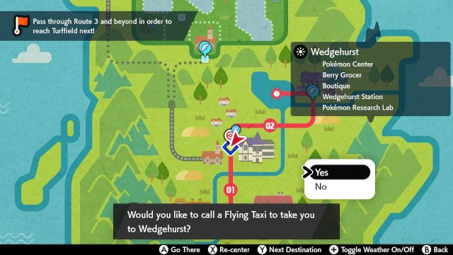Pokemon Sword and Shield how to fast travel map