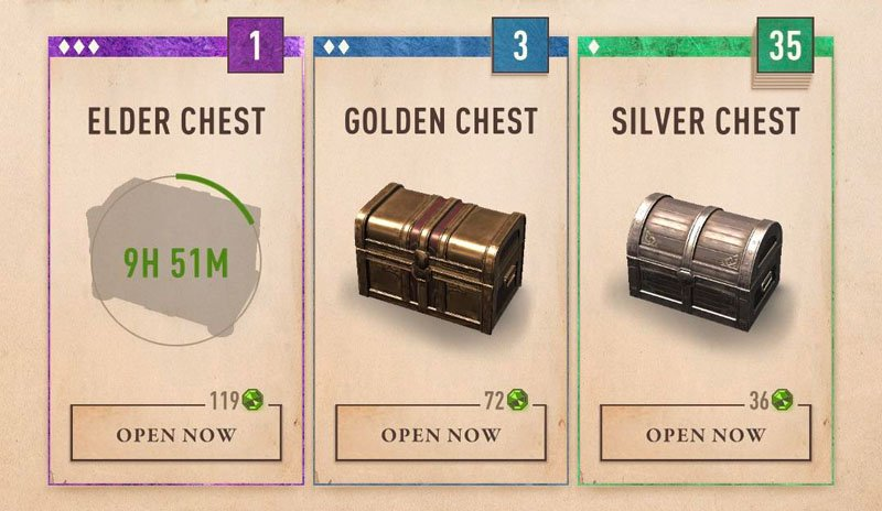 The Elder Scrolls Blades chest timers removed