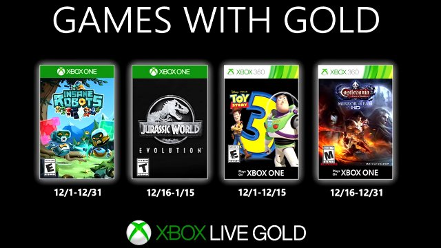 Xbox Games with Gold December 2019 lineup