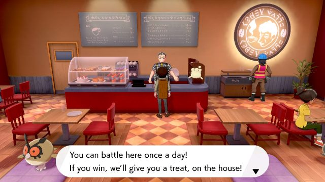 Pokemon Sword and Shield Battle Cafe rewards