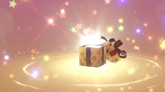 Pokemon Sword and Shield Mystery Gift codes gift box