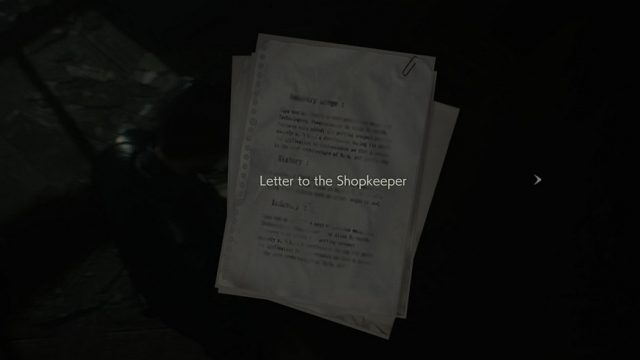 RE2 Chasing Jill Letter Title