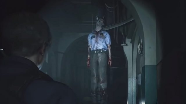 Resident Evil 2 Remake Hanging Corpse