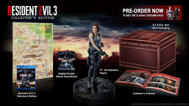 Resident Evil 3 remake release date Collector's Edition