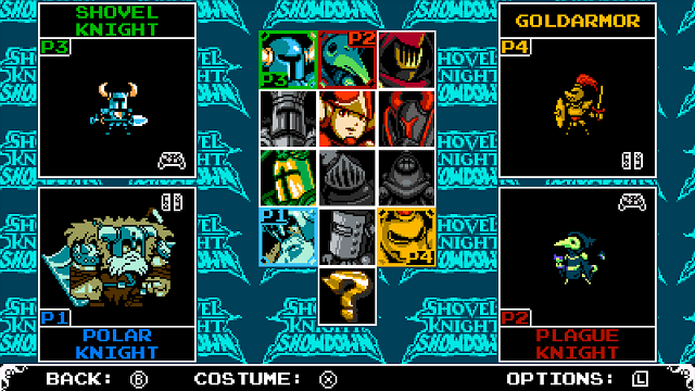 Shovel Knight Showdown Character Select