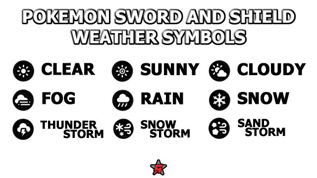 pokemon sword and shield weather symbol meanings chart