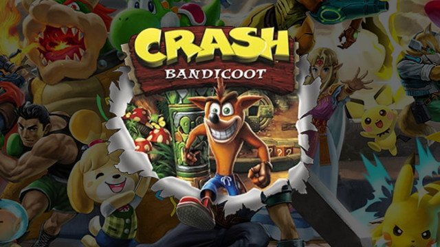 Super Smash Bros. Ultimate Crash Bandicoot cover