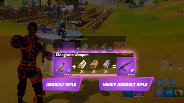 How to Sidegrade Weapons in Fortnite