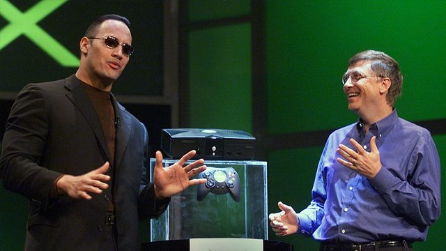 the rock bill gates xbox