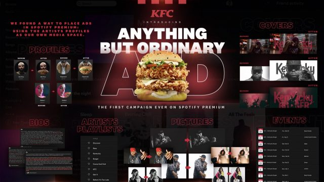 Gross KFC Arabia Spotify Premium Ad