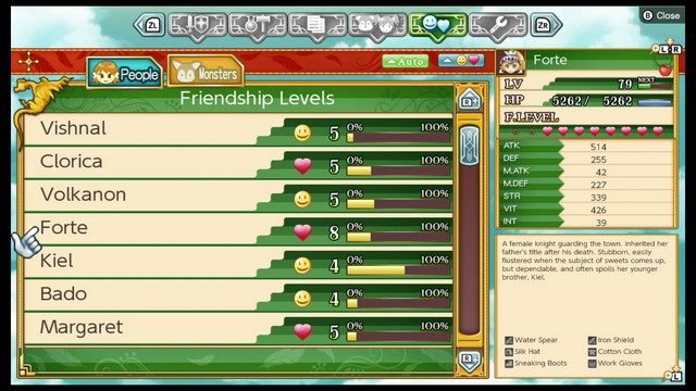 Rune Factory 4 Friendship Relationship Levels