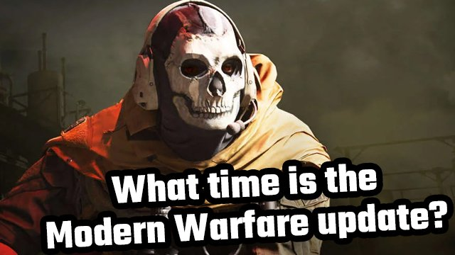 what time is modern warfare update