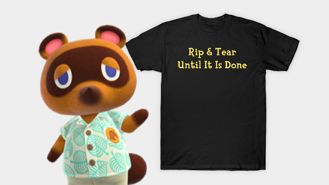 Doom Eternal Animal Crossing shirts Nook