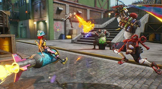 Bleeding Edge is a promising Overwatch-like with dolphin mechs and old women