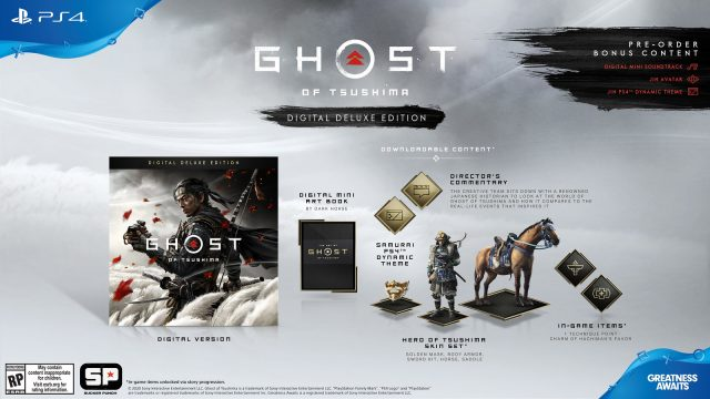 Ghost of Tsushima pre-order - Digital Deluxe Edition