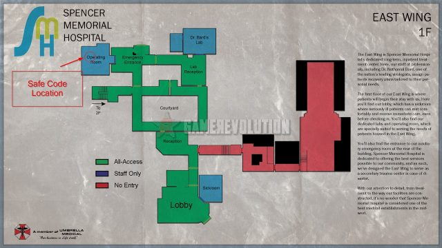 Resident Evil 3 Remake Hospital Safe Code Location