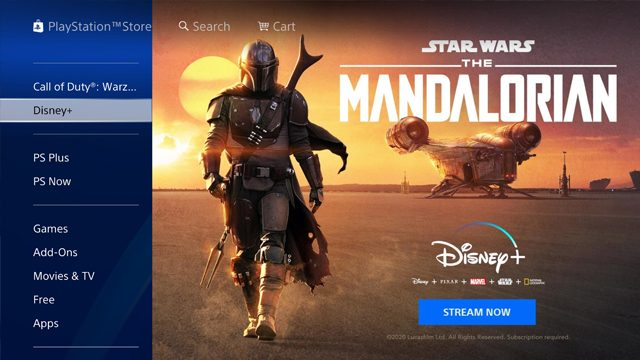 cant find disney plus on ps4