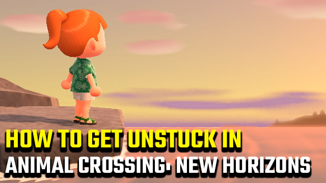 how to get unstuck in Animal Crossing: New Horizons