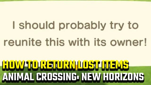 Animal Crossing: New Horizons lost item