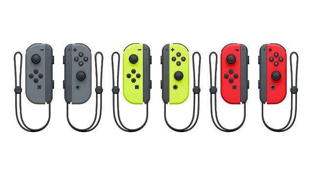 Discontinued Nintendo Switch Joy-Con colors Grey Yellow Red