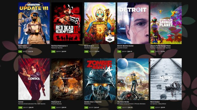 Epic Games Store Spring Sale 2020 $10 holiday coupon