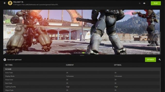 Fallout 76 Launches Too Big for Monitor Screen cut off zoomed in fix geforce experience