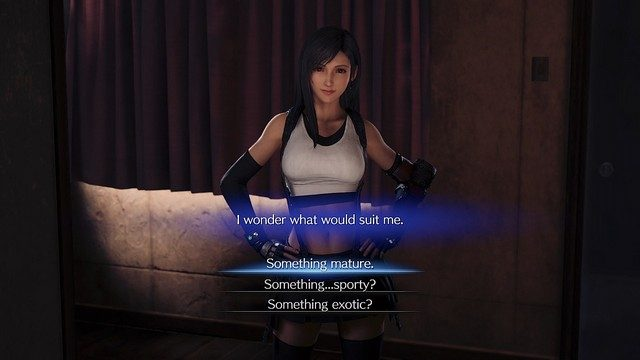 Final Fantasy 7 Remake Mature Sporty Exotic Tifa Question