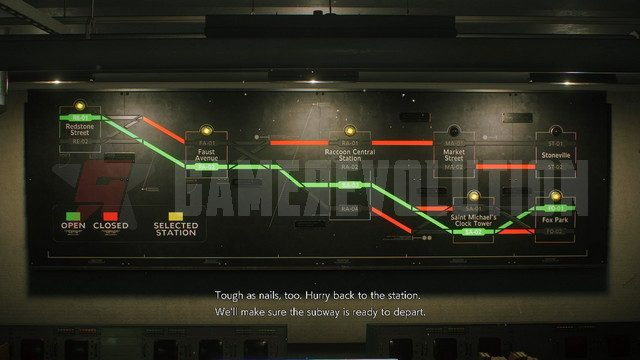Resident Evil 3 Remake Completed Subway Train route