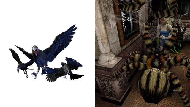 Resident Evil 3 Remake Cut Crows Spiders