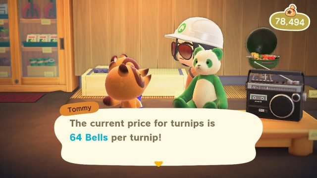 When do turnip prices change in Animal Crossing: New Horizons Nook's Cranny